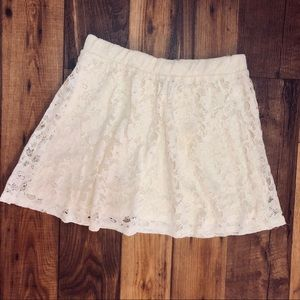Forever 21 Ivory Lace Skirt